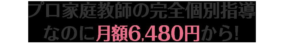プロ家庭教師の完全個別なのに月額6480円から!